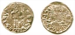 Денар времен правления Вука Бранковича, Косово. 1371-1395